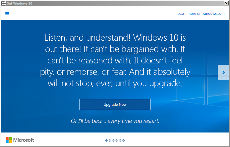 It's back…Windows 7 users, get ready to be harassed! – OCD